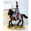French Hussar Officer pointing with sword,cantering horse...