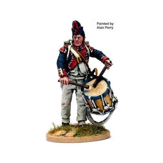 French Drummer advancing( 2 head variants, shako and bonnet de p