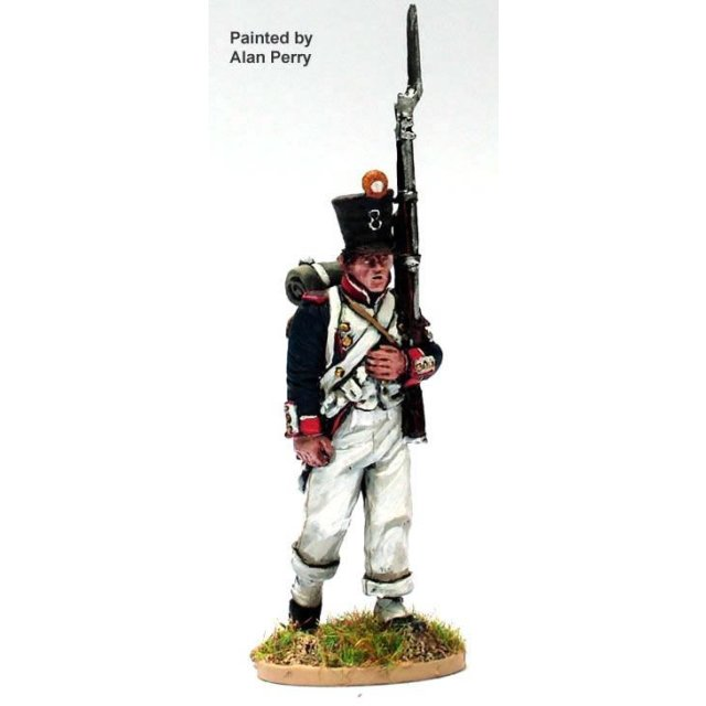 French Fusilier march attack ,habit (4 head variants)