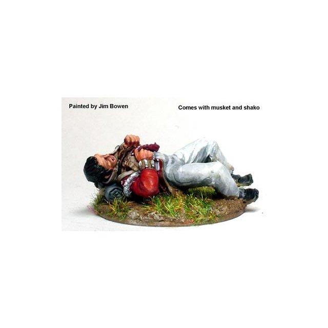 British Light Infantryman, wounded lying on back