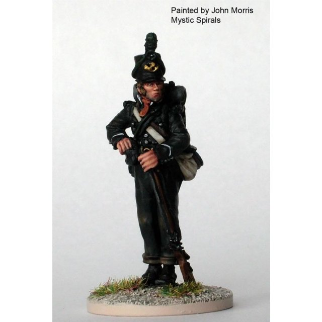 British Rifleman standing taking shot from pouch