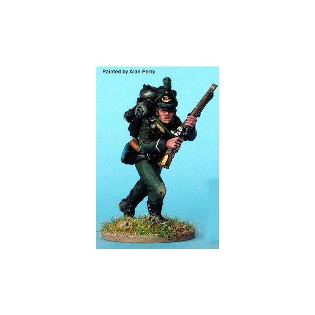 British Rifleman Harris (company cobbler) advancing