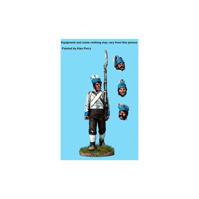 Spanish Line Infantry new recruit in 1805 fatigue dress and fora