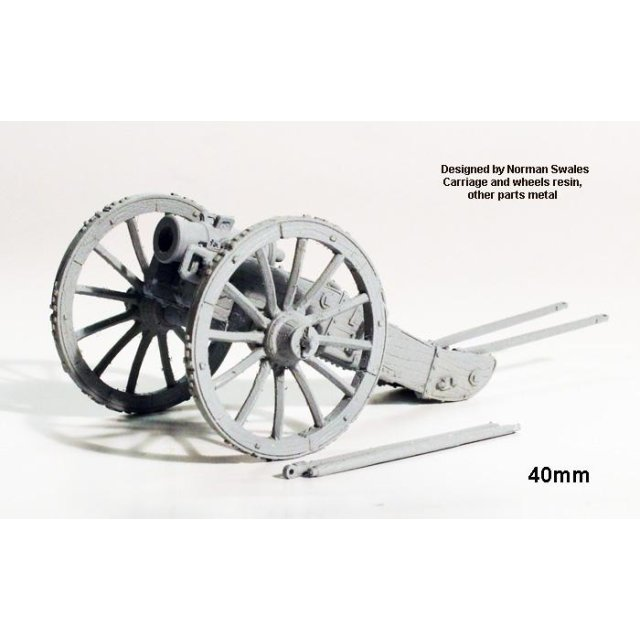 French 6â??â?? Howitzer  (resin carriage and wheels, other parts