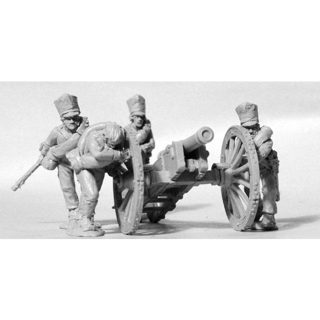 Foot Artillery running up 6pdr