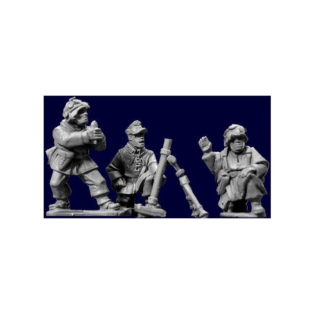 Late War German Mortar Team (4 pieces)