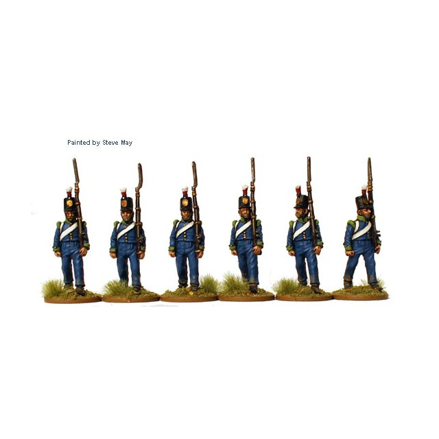 Prussian Reservists marching (shoulder wings)