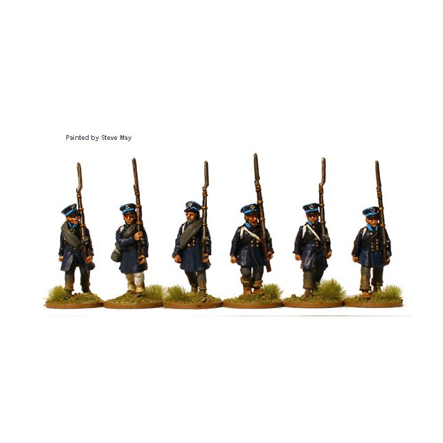 Prussian Landwehr marching