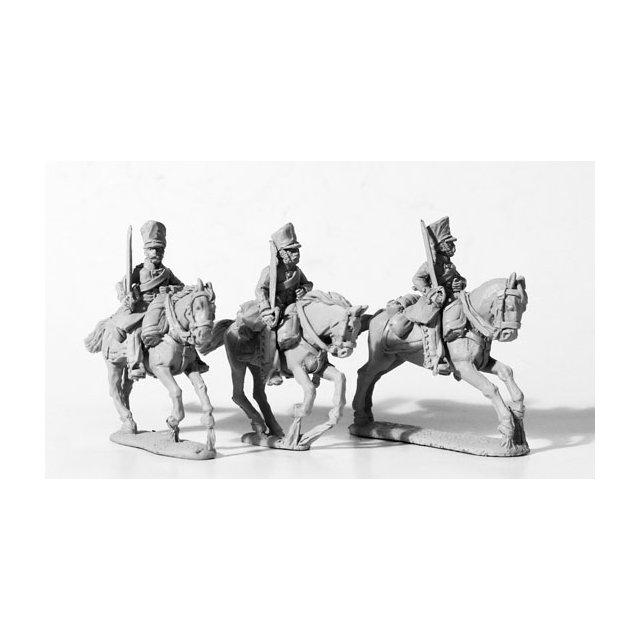 Dragoons, swords shouldered, galloping
