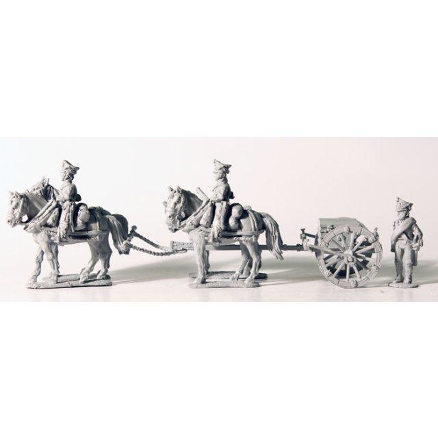 Four horse light foot artillery limber, no gun, standing
