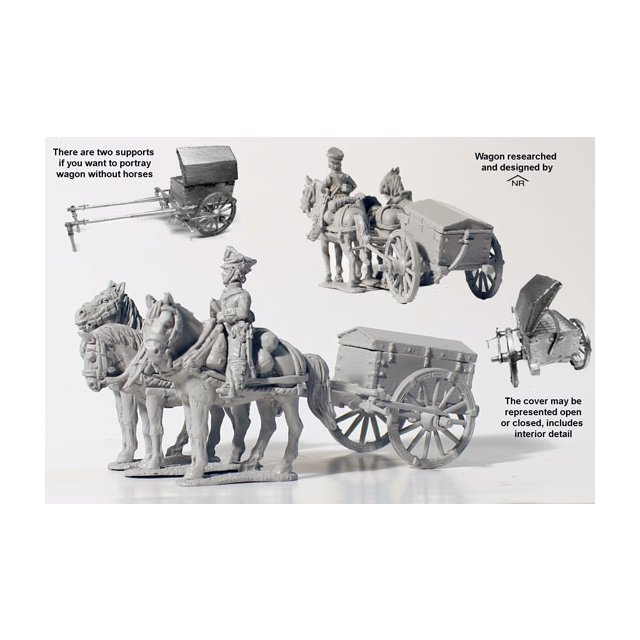 Three horse artillery ammunition cart