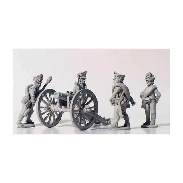 Foot artillery firing 10 pdr unicorn (1812 kiwers)