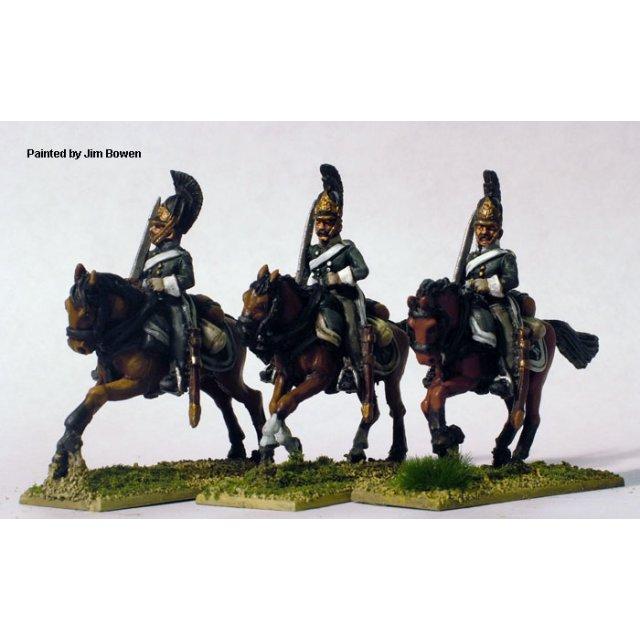 Dragoons, swords shouldered, galloping (1812-14)