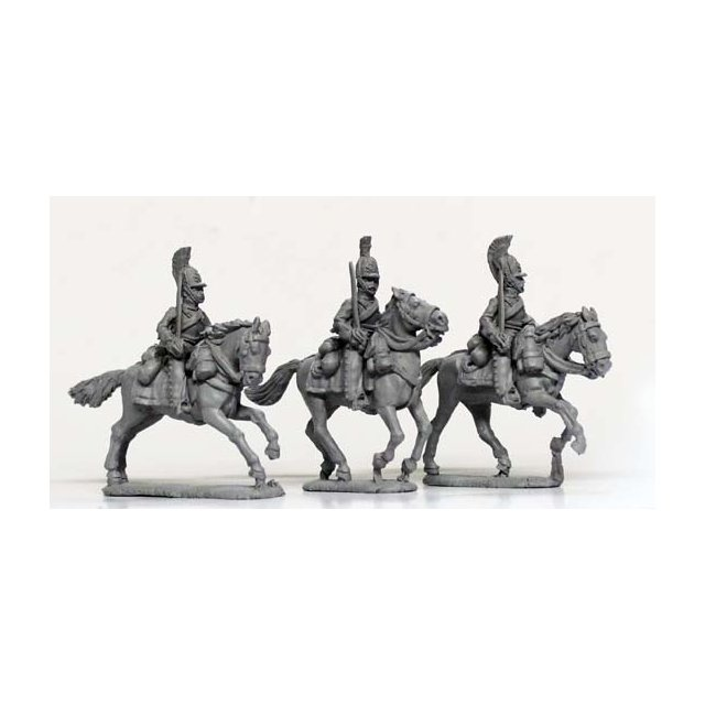 Cuirassiers, swords shouldered, galloping