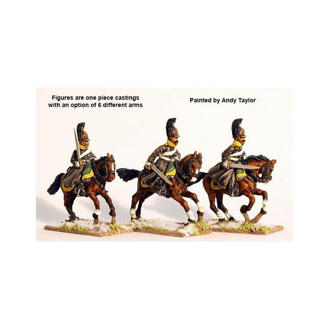 Dragoons in greatcoats galloping