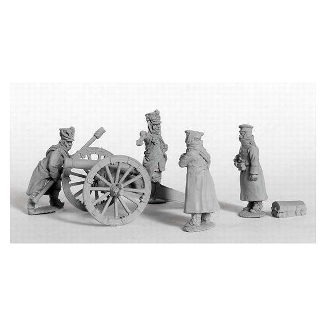 Foot Artillery in winter dress Firing 6pdr