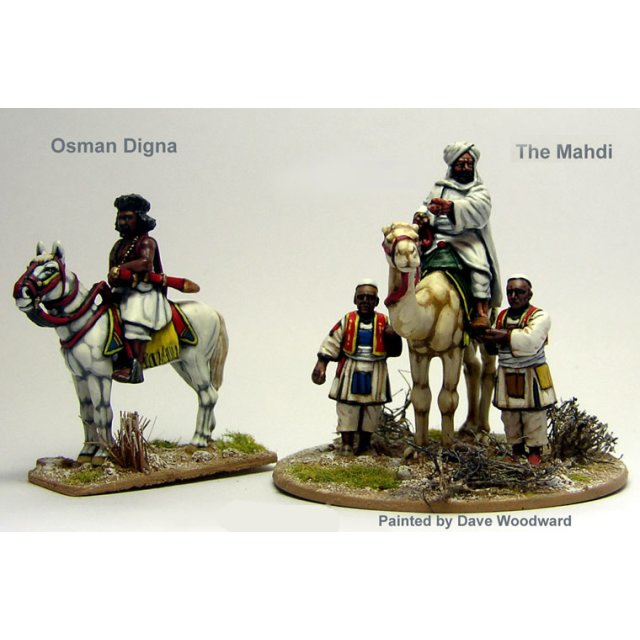 The Mahdi mounted on a camel attended