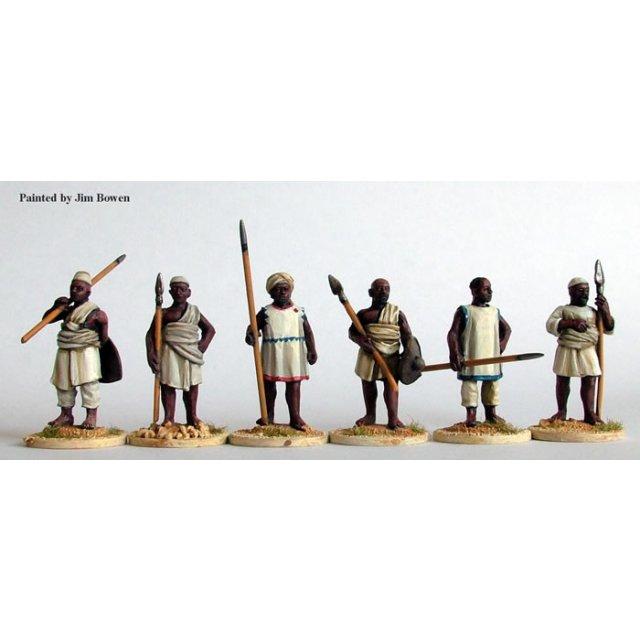 Kordofan spearmen standing at rest