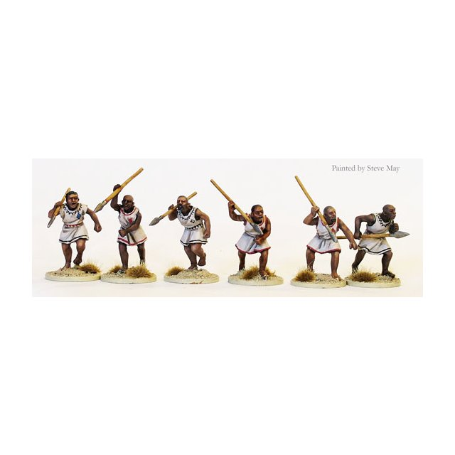 Nile arab spearmen attacking