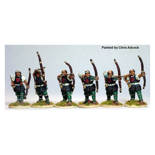 Ashigaru archers, shooting and loading