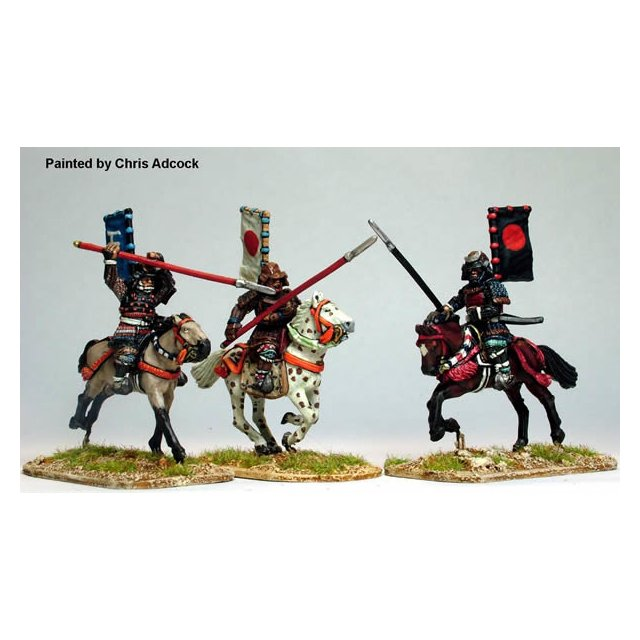 Mounted Samurai with Yari, charging 3