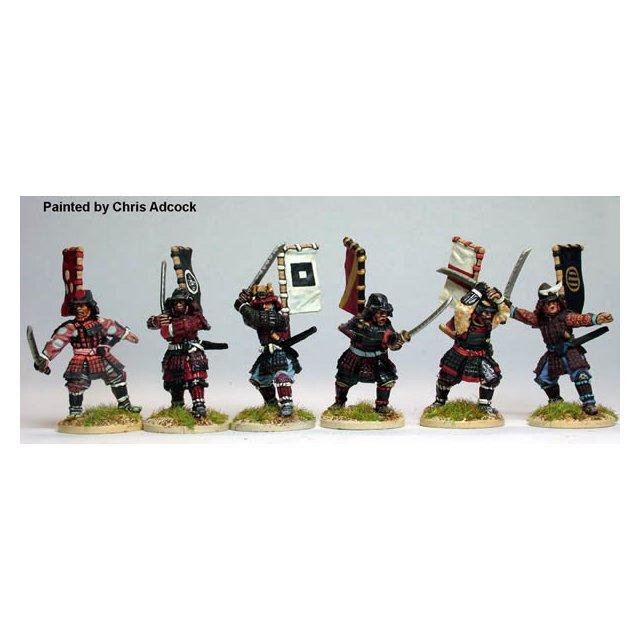 Samurai with swords, fighting