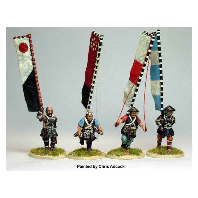 Bannermen advancing ( 4 figures )
