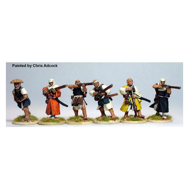 Monks firing and loading arquebus