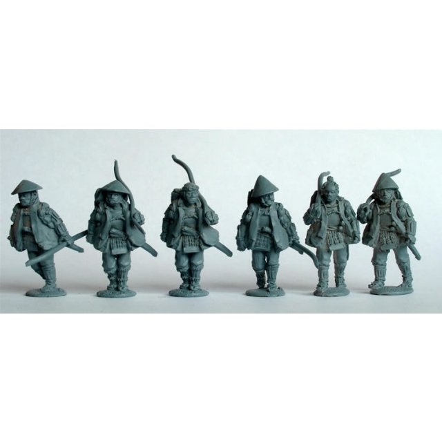 Ashigaru archers marching in Haori