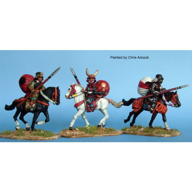 Mounted Samurai Bodyguards/ Messengers with Horo