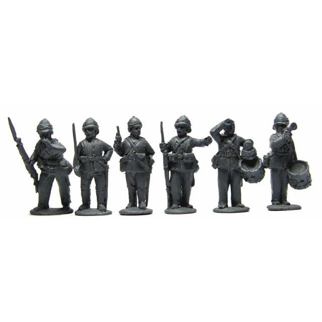 British Infantry command standing