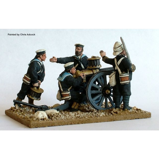 Gatling gun and Naval Brigade crew
