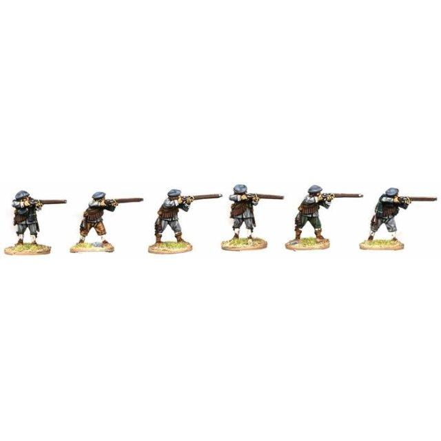 Musketeers, firing