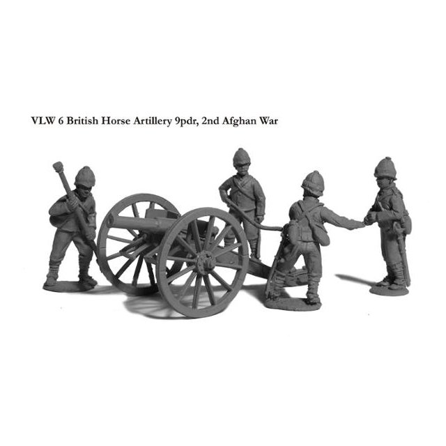 Brtish Horse Artillery crew and 9pdr