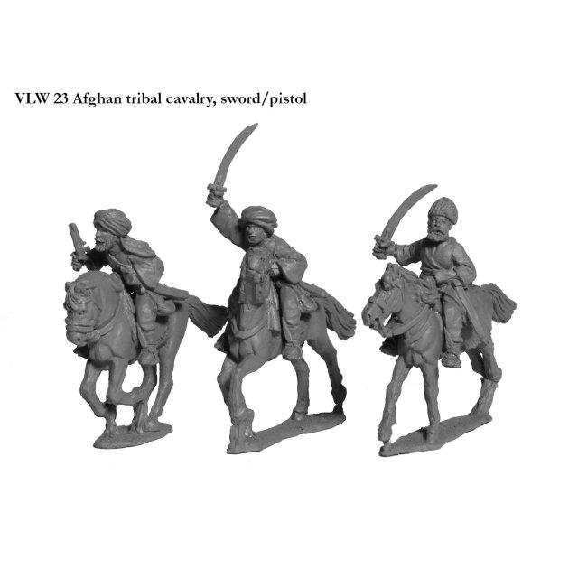 Afghan tribal cavalry, sword/pistol