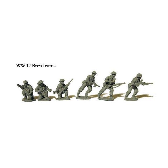 Bren Gun teams in BD trousers
