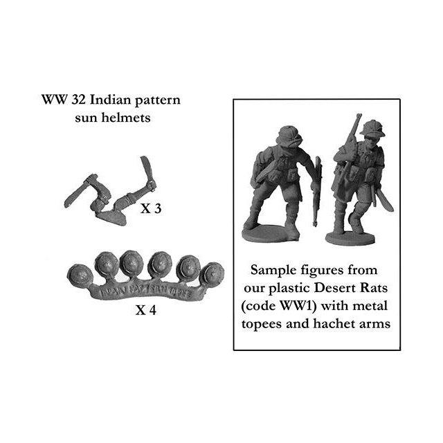 Indian pattern sun helmets