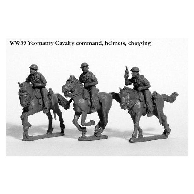 Yeomanry Cavalry command, helmets, charging