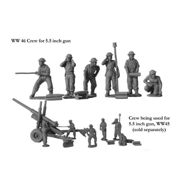 Crew for 5.5 inch gun