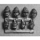 Eight 28mm (1/56th) heads